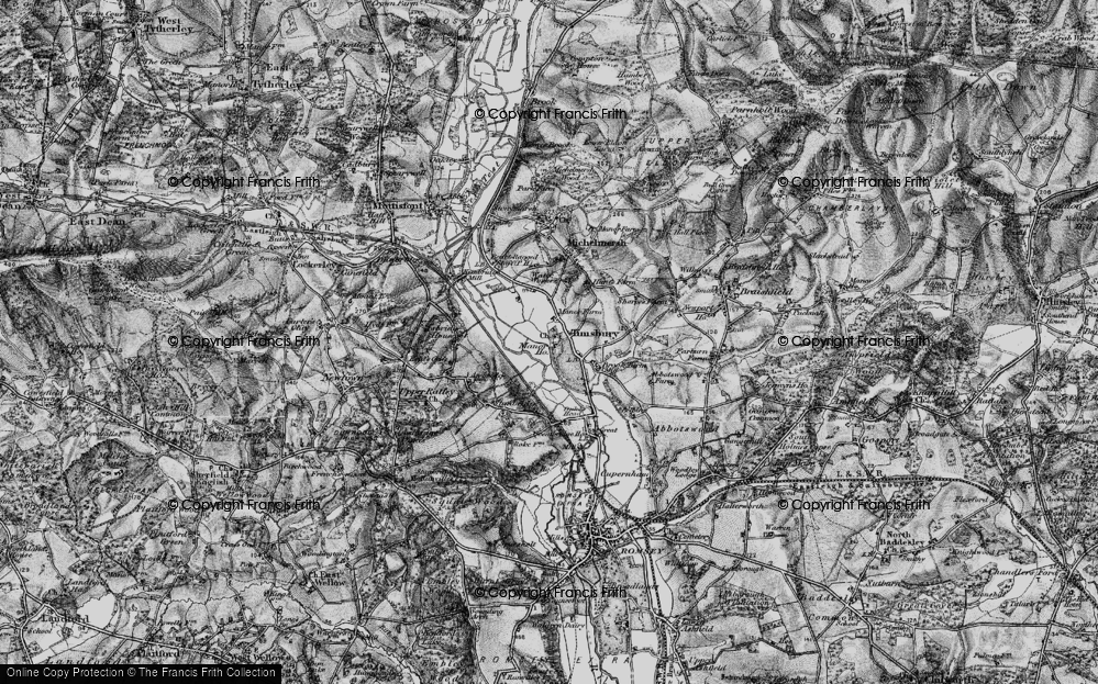 Old Map of Timsbury, 1895 in 1895