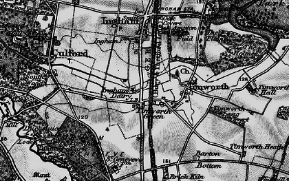 Old map of Timworth Green in 1898