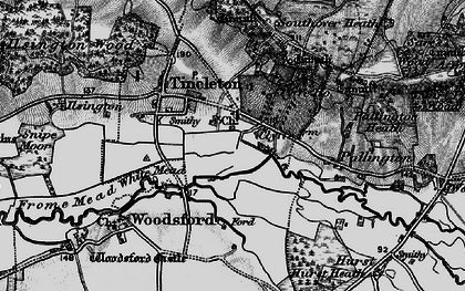 Old map of Woodsford Lower Dairy in 1897