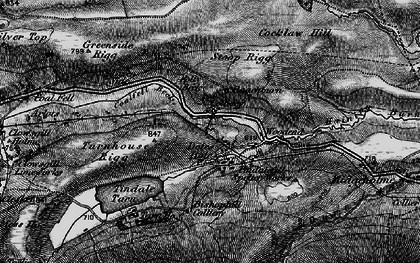 Old map of Whamoss Rigg in 1897