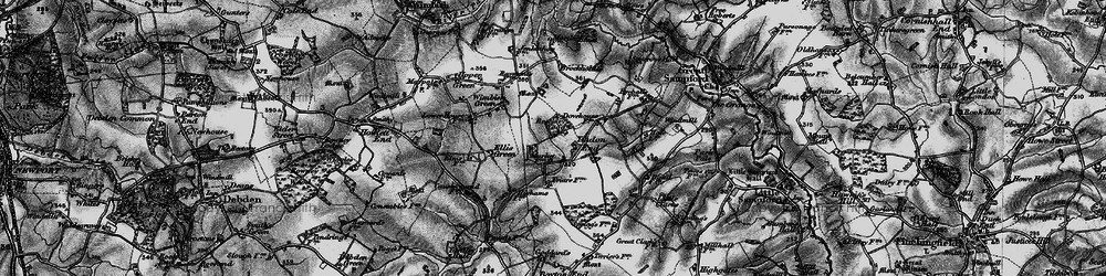 Old map of Tindon End in 1895