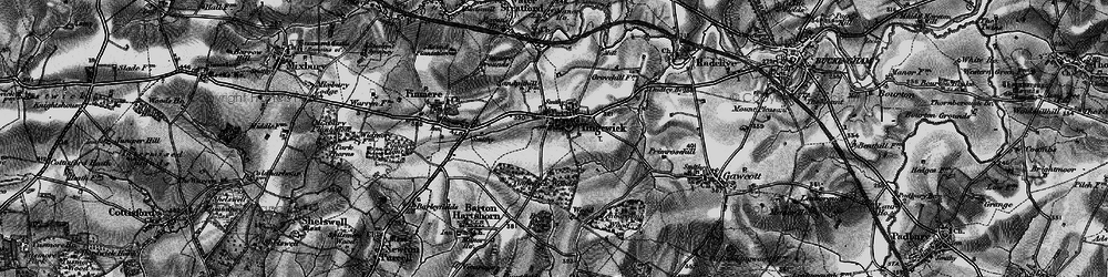 Old map of Tingewick in 1896