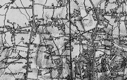 Old map of Tinsley Green in 1896