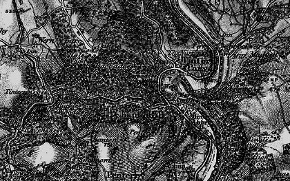 Old map of Tintern in 1897