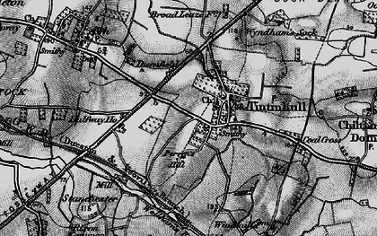 Old map of Tintinhull in 1898