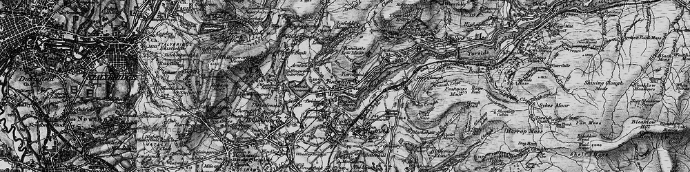 Old map of Tintwistle in 1896