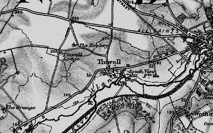Old map of Tinwell in 1895