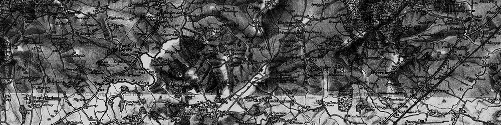 Old map of Tip's Cross in 1896