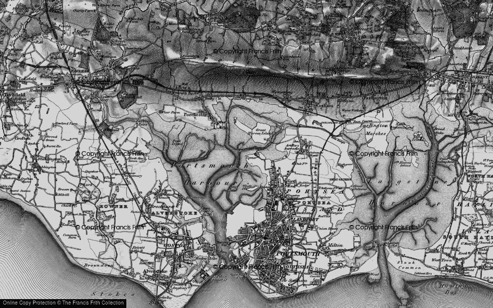 Old Map of Tipner, 1895 in 1895