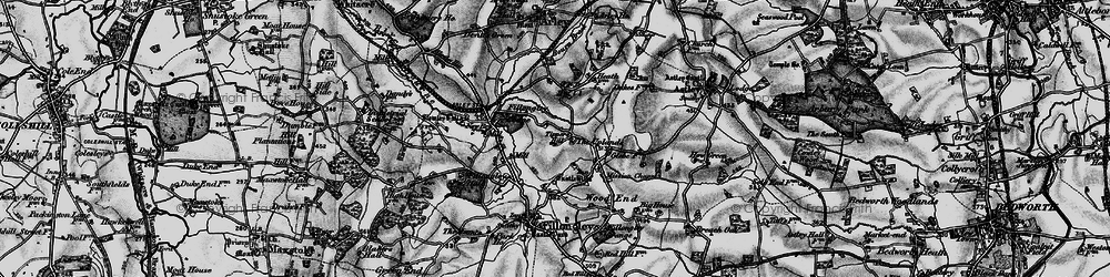 Old map of Tipper's Hill in 1899