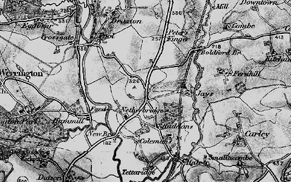 Old map of Tipple Cross in 1895