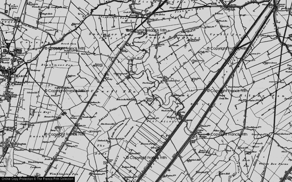 Old Map of Tipps End, 1898 in 1898