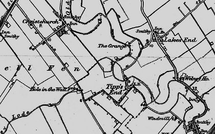 Old map of Tipps End in 1898