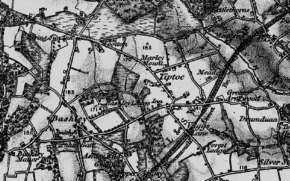 Old map of Tiptoe in 1895
