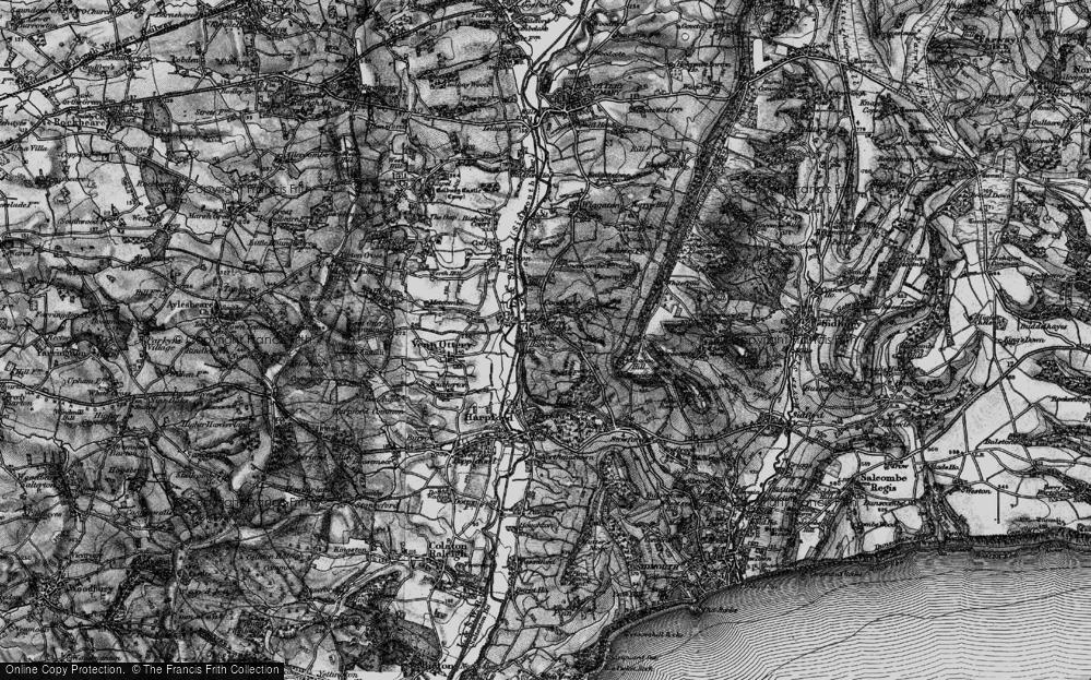 Old Map of Tipton St John, 1897 in 1897