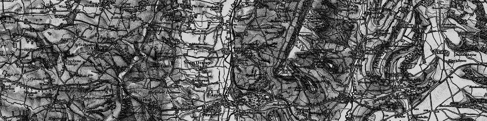 Old map of Tipton St John in 1897
