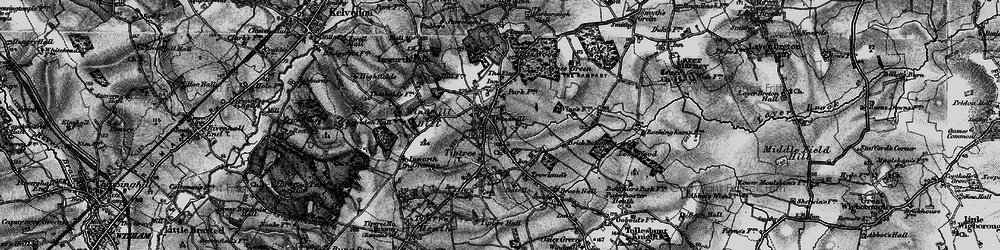 Old map of Tiptree in 1895