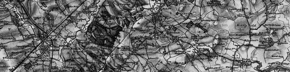 Old map of Tiptree Hall in 1896