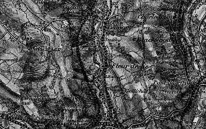 Old map of Tir-y-berth in 1897