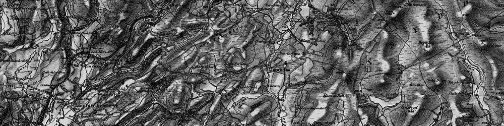 Old map of Abergefail in 1898