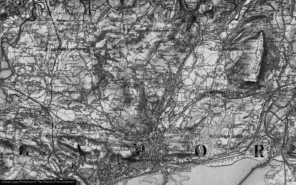 Old Map of Tirdeunaw, 1897 in 1897