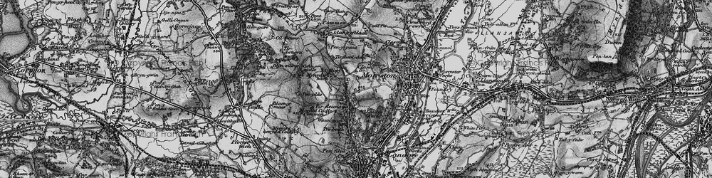 Old map of Tirdeunaw in 1897
