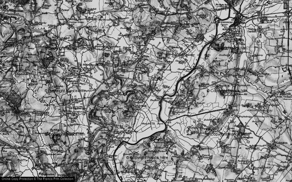 Old Map of Tirley, 1896 in 1896