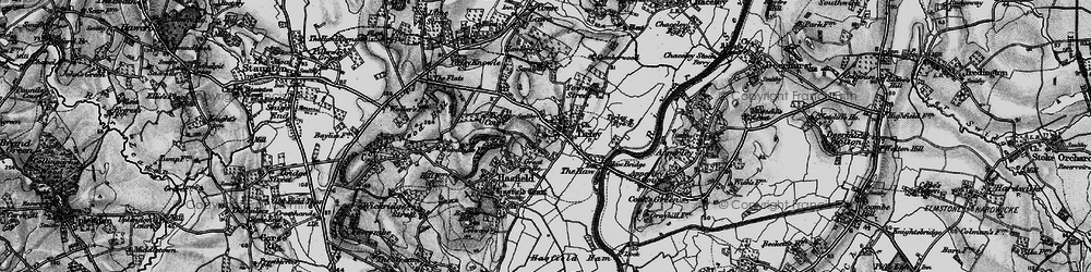 Old map of Tirley in 1896