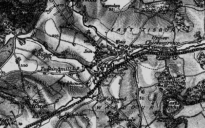 Old map of Tisbury in 1895