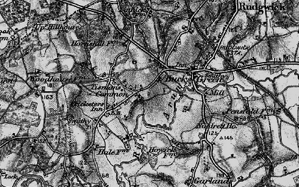 Old map of Tisman's Common in 1895