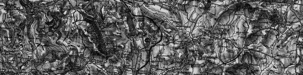 Old map of Tissington in 1897