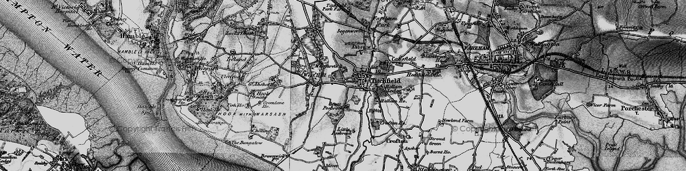 Old map of Titchfield in 1895
