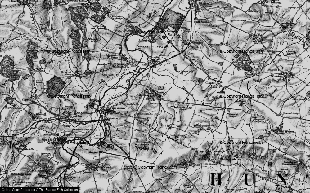 Old Map of Titchmarsh, 1898 in 1898