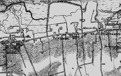 Old map of Titchwell in 1898