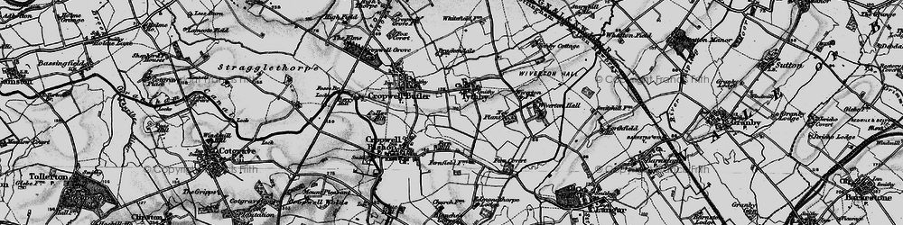 Old map of Tithby in 1899