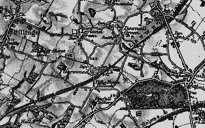 Old map of Tithe Barn Hillock in 1896