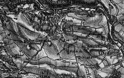 Old map of Tithebarn in 1897