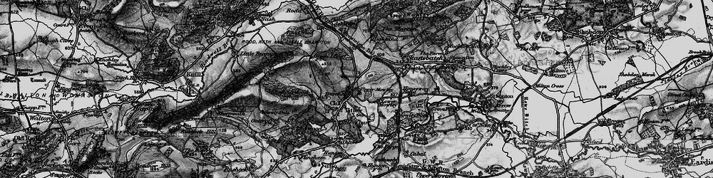 Old map of Titley in 1899