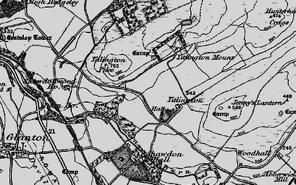 Old map of Titlington Burn in 1897