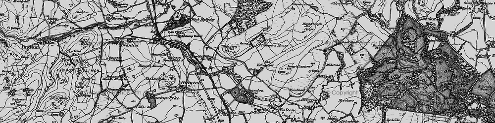 Old map of Titlington in 1897