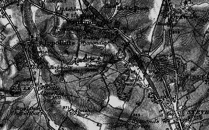 Old map of Wyck, The in 1896