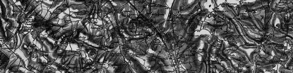 Old map of Titmore Green in 1896