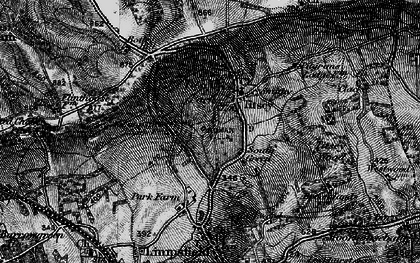 Old map of Titsey in 1895