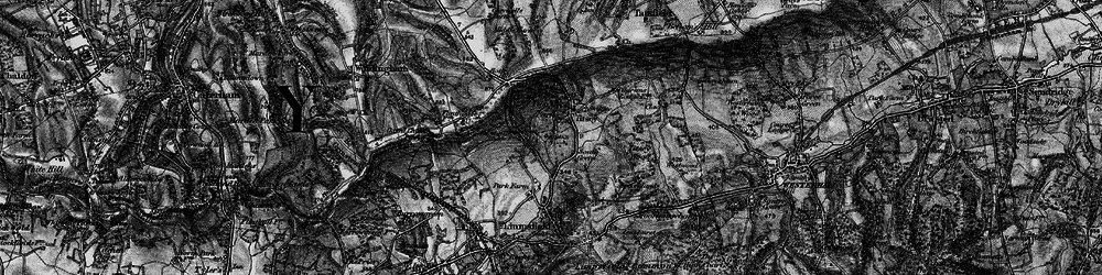 Old map of Titsey Park in 1895