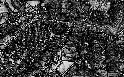 Old map of Tittenhurst in 1896