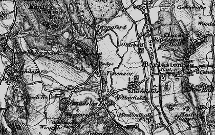 Old map of Tittensor in 1897