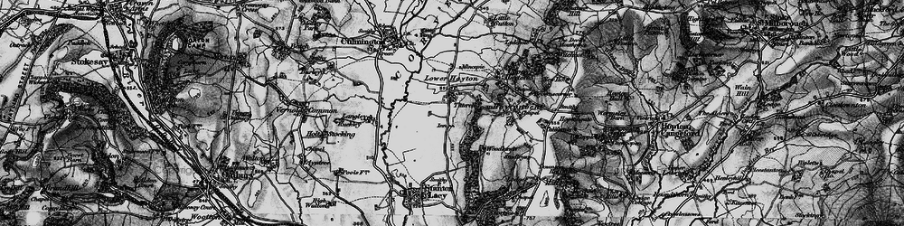 Old map of Titterhill in 1899