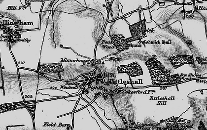 Old map of Tittleshall Hill in 1898