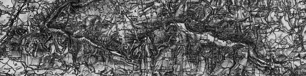 Old map of Titty Hill in 1895