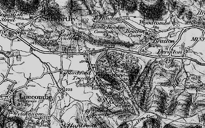 Old map of Tivington in 1898